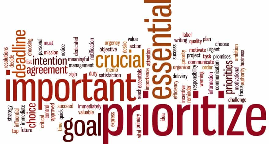Prioritize word cloud